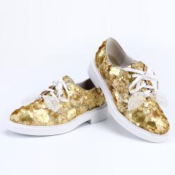 """蔻维斯<span class=""""gcolor"""">女鞋</span> 2016春季时尚新款系带亮片新颖<span class=""""gcolor"""">流行</span>单鞋"""