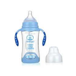美凯蒂 PA炫彩双色手柄带底奶瓶(4色)MKD-M012 MKD-M013