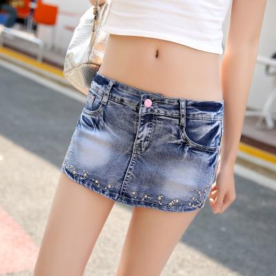 2016新款女装牛仔短裤裙裤半身裙女式春夏季假两件防走光短热裤6689