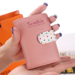 女韩版可爱 2016新款时尚波点多卡位韩国卡包卡套