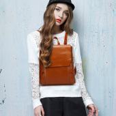 2016新款韩版女包 油蜡皮学生双肩包 复古旅游包包潮女袋 F168