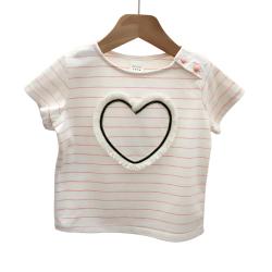 "muna bebe <span class=""gcolor"">短袖</span>条纹<span class=""gcolor"">T恤</span> 全棉 JT126"