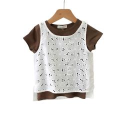"""可丽豆 短袖圆领 <span class=""""gcolor"""">两件套</span>T恤 T249"""