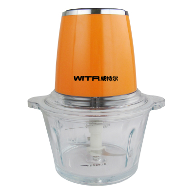冠索 WTR-002 绞肉机2L小型多功能搅拌碎肉机打肉蒜泥搅馅碎菜机家用