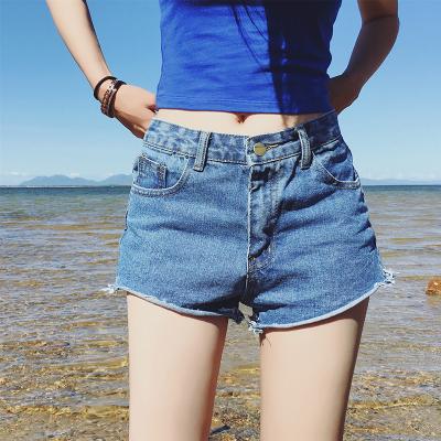 鸿利 2016新款春夏女装牛仔短裤女自然腰显瘦直筒裤百搭牛仔裤 1027#