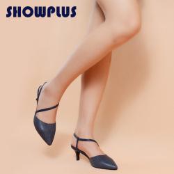 "SHOWPLUS/秀派女士凉鞋2016夏季包头<span class=""gcolor"">高跟鞋</span>细跟鞋子真皮女鞋夏天"