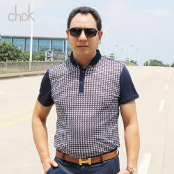 "CHDK 2016夏季新款男式<span class=""gcolor"">短袖T恤</span>休闲立领都市风格21202058-347"