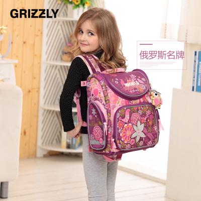 【GRIZZLY】变形金刚 小学生儿童书包女生1-3-6年级 6-12岁背包公主双肩包超轻减负防水RA-541系列