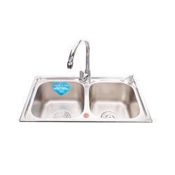 高歌 珍珠纱水槽 不锈钢双盆 680*380mm
