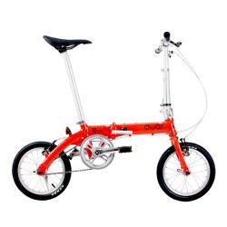 DUQI 14寸可折叠自行车 前后轮V闸铝合金