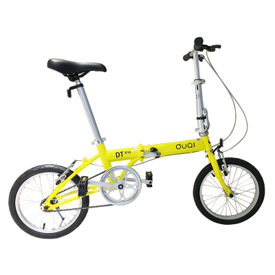 DUQI 16寸碳钢可折叠自行车 DT610 前后轮V闸