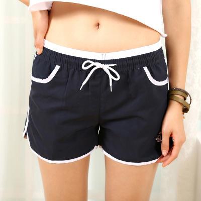 念念 休闲裤宽松大码跑步热裤糖果色沙滩裤B218