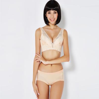 尤莱儿 美背蕾丝系列无钢圈性感蕾丝聚拢文胸套装