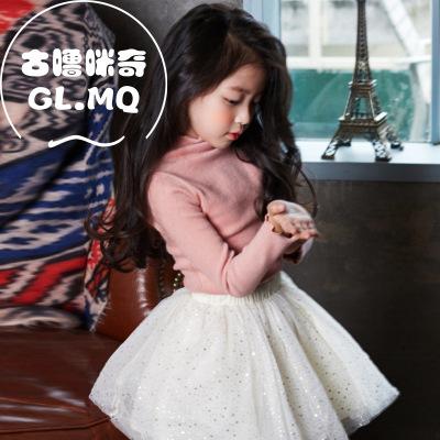 童装女童打底衫2016秋季新品韩版高领T恤打底长袖上衣儿童长袖纯棉t恤