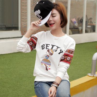 金丽都 秋季新款女装韩版卫衣学生卡通上衣96001