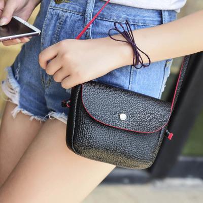 至缘皮具 2016新款时尚单肩斜跨包小包纯色简约手机包SK006