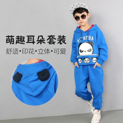 2016秋季新款男童中小童运动套装儿童韩版时尚休纯棉卫衣两件套