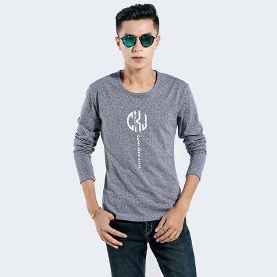 新锐概念 2016新锐概念时尚潮流简约印花圆领长袖圆领T恤 8807