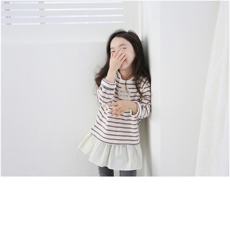 kitty swan条纹长袖T恤 SN-048...