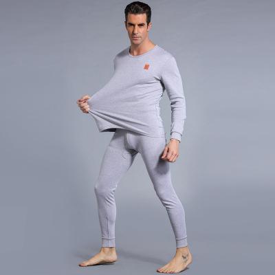 全棉双面高质舒适圆领秋衣秋裤男士中年青年套装 NR-006