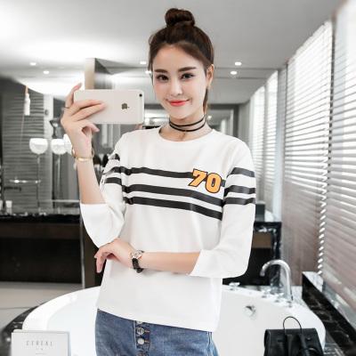 金丽都 2016秋季韩版宽松打底衫七分袖女T恤简约体恤96134