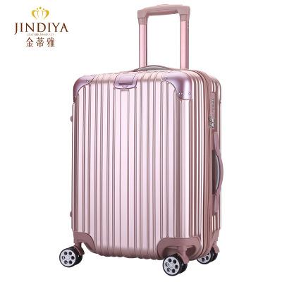 玫瑰金拉杆箱20登机箱子万向轮行李箱男女潮密码旅行箱包24寸3003