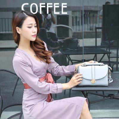 雅仕 韩版盖头纯色时装包 2028#
