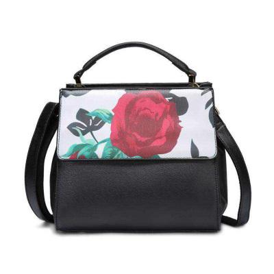 雅仕 优雅气质玫瑰花时装女包2052#