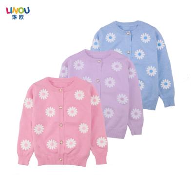 LINOU琳欧 2016新款时尚大包女孩女童开衫毛衣 LOU23