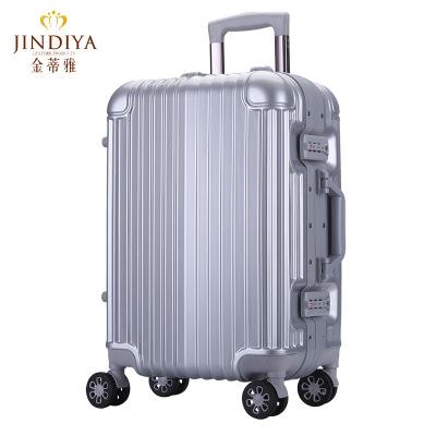 玫瑰金胶框拉杆箱20登机箱子24万向轮男女密码行李箱潮旅行箱6006