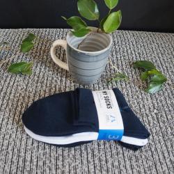 啦果/Laguo 男士纯色商务休闲百搭舒适透气袜 (3双装)