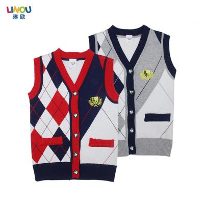 LINOU琳欧 2016新款时尚男童背心毛衣  LOU29