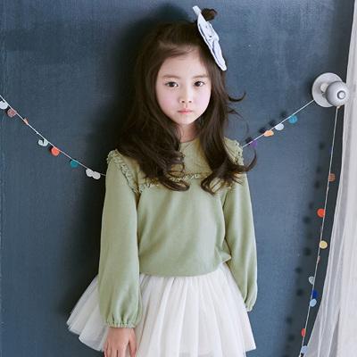 圣诺秋装新款儿童长袖T恤 韩版纯棉圆领套头女童卫衣    SN-068