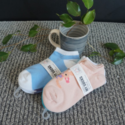 啦果/LAGUO 女士休闲花色纯棉透气袜子 (4双装)
