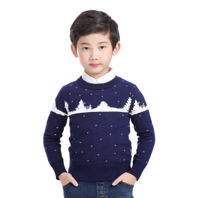 童装2016韩版秋冬款新款男童毛衣套头儿童针织衫加厚男孩潮