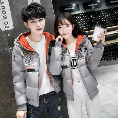 2016冬季新款韩版男女情侣羽绒服女棉服短款加厚连帽外套