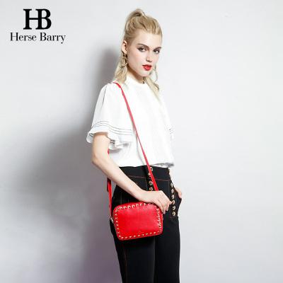 赫莎芭妮HERSE BARRY 新款时尚柳钉单肩包 HB1603