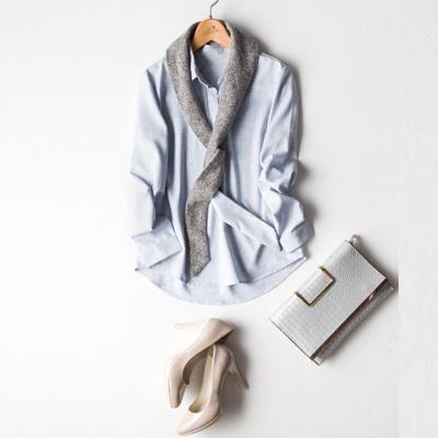 传天其 2016新款假领带修身显瘦上衣 S1607-20