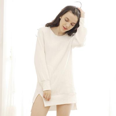 Touching Me 2016秋冬新款 中长款长袖上衣加厚夹棉睡衣 DS16049