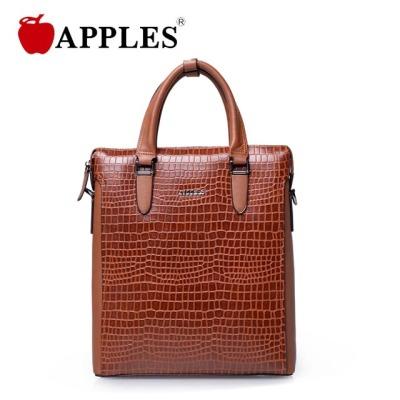 APPLES/苹果男士竖款手提牛皮休闲包商务公文皮手提包 AB63009-2B