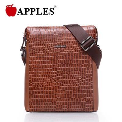 APPLES/苹果 男士时尚潮流鳄鱼纹牛皮单肩男包 AB63009-1B