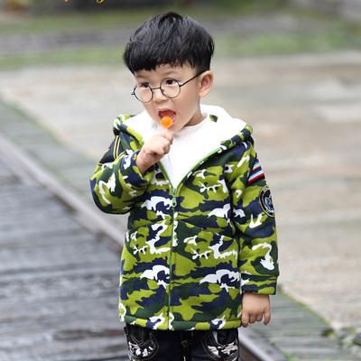 欧日韩风 2016秋冬新款上衣小孩男童加绒棉衣 636032