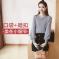 女人志 2017秋冬韩版新款时尚套装V领纯色长袖针织毛衣修身口袋短裙二件套 8078