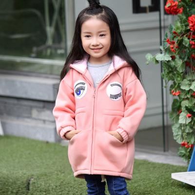 欧日韩风 2016秋冬新款上衣小孩女童加绒棉衣 636014