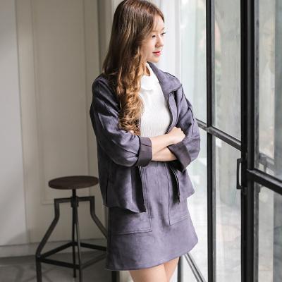 传天其 2016秋冬新款时尚帅气套装裙 SQ-04951