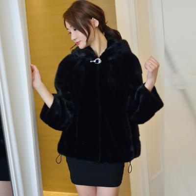 玛天妮 皮草上衣外套 13159-黑
