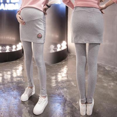 2017年春季孕妇裤打底裤冬季孕妇装长裤子显瘦假两件托腹孕妇