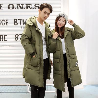 2016冬季韩版时尚羽绒棉服加厚中长款情侣同款外套