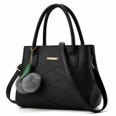 女士包包2016夏季新款韩版手提包女大包休闲单肩包斜挎黑色贝壳包