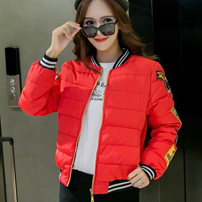2016冬季新款轻薄羽绒服女短款韩版立领修身棒球服外套